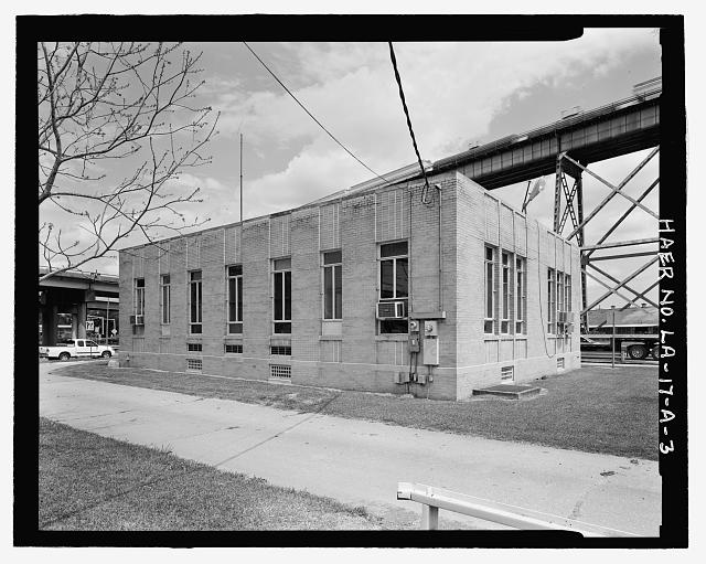 Administration Building Southeast side and Southwest rear - Huey P. Long Bridge, Administration Building, 5100 Jefferson Highway, Jefferson, Jefferson Parish, LA