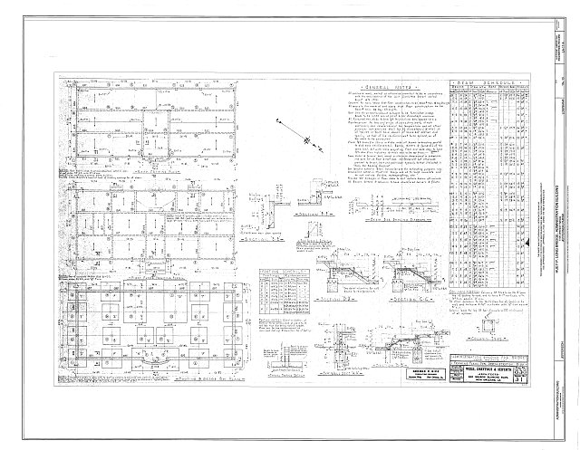 Framing Plans - Huey P. Long Bridge, Administration Building, 5100 Jefferson Highway, Jefferson, Jefferson Parish, LA