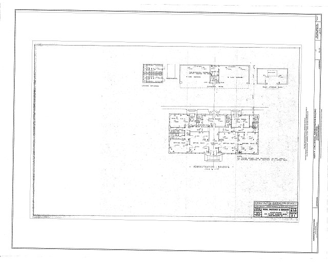 Electrical Layout - Main Outbuilding - Huey P. Long Bridge, Administration Building, 5100 Jefferson Highway, Jefferson, Jefferson Parish, LA