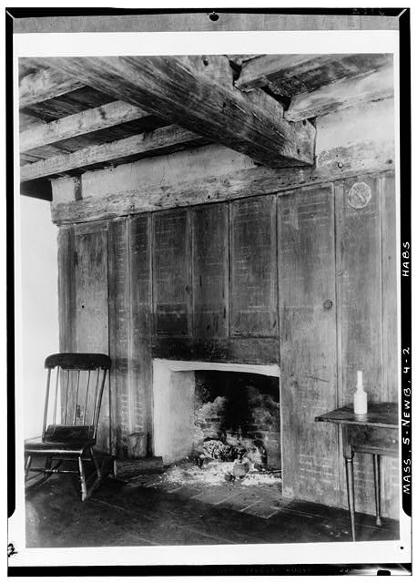 2.  Historic American Buildings Survey Albert S. Burns, Photographer 1934, 1935 B.R. OVER MANTLE - Swett-Ilsley House, 4-6 High Street, Newbury Old Town, Essex County, MA