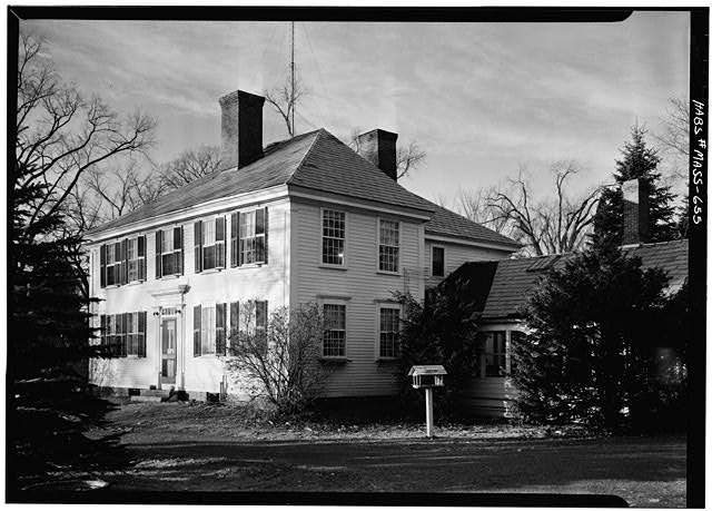 3.   November 1959 ELEVATION FROM SOUTHEAST - White-Field House, Main & Maple Streets, Northfield, Franklin County, MA