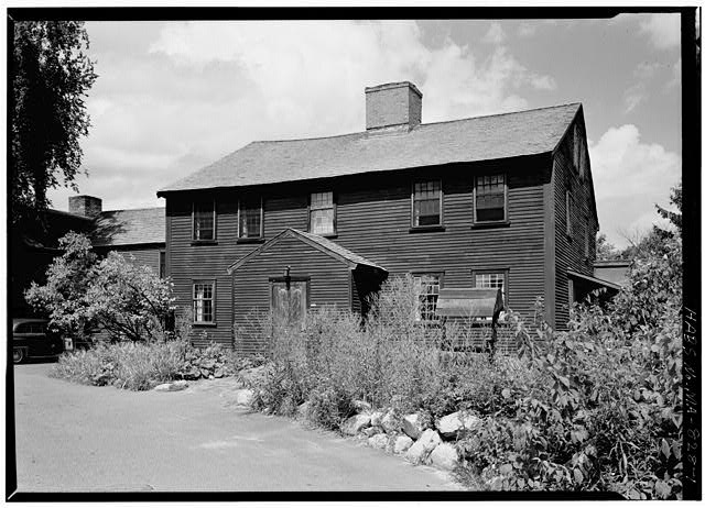 1.  EXTERIOR FROM THE SOUTHEAST - Sergeant Samuel Hartwell House, Virginia Road, Lincoln, Middlesex County, MA