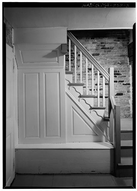 3.  FRONT STAIRWAY - Sergeant Samuel Hartwell House, Virginia Road, Lincoln, Middlesex County, MA