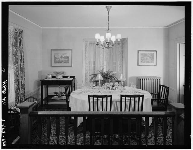 8.  FIRST FLOOR, DINING ROOM, VIEW LOOKING NORTHEAST - John Fitzgerald Kennedy Birthplace, 83 Beals Street, Brookline, Norfolk County, MA