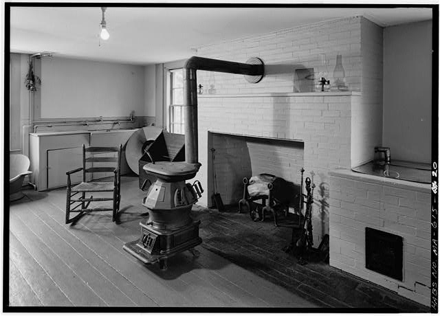 Laundry room, north of kitchen, looking northwest - Adams Mansion, 135 Adams Street, Quincy, Norfolk County, MA