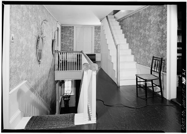 Stairhall, located in the 1800 addition, looking north - Adams Mansion, 135 Adams Street, Quincy, Norfolk County, MA
