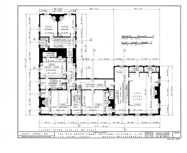HABS MASS,11-QUI,5- (sheet 4 of 26) - Adams Mansion, 135 Adams Street, Quincy, Norfolk County, MA