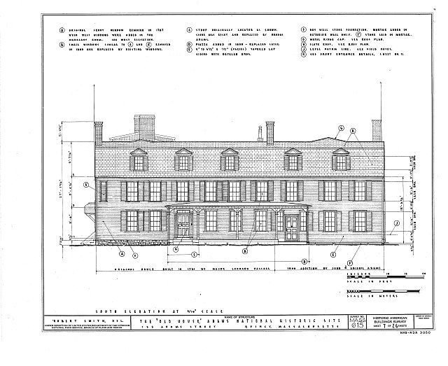HABS MASS,11-QUI,5- (sheet 7 of 26) - Adams Mansion, 135 Adams Street, Quincy, Norfolk County, MA