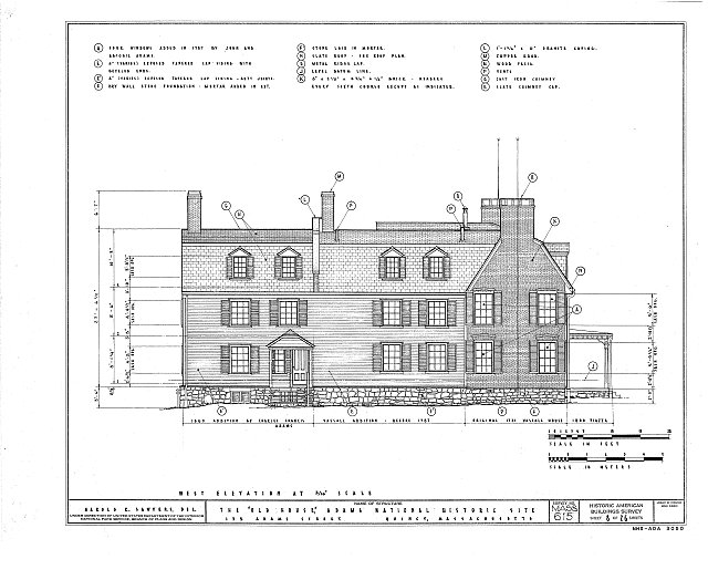HABS MASS,11-QUI,5- (sheet 8 of 26) - Adams Mansion, 135 Adams Street, Quincy, Norfolk County, MA