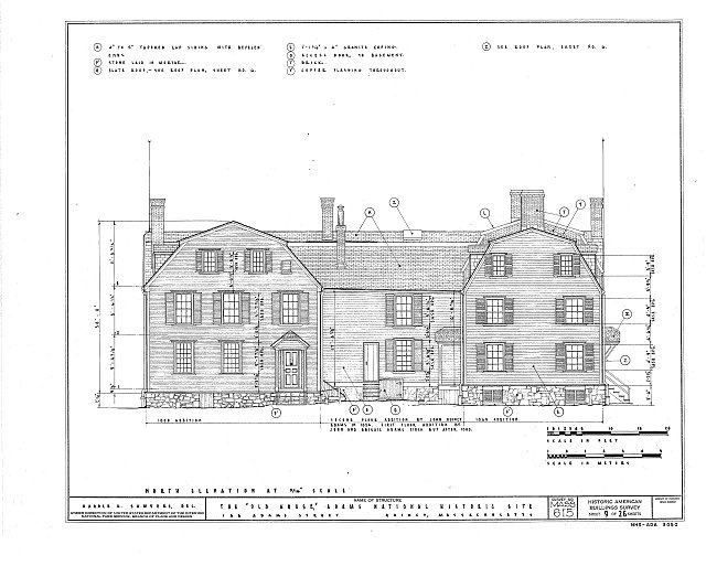 HABS MASS,11-QUI,5- (sheet 9 of 26) - Adams Mansion, 135 Adams Street, Quincy, Norfolk County, MA