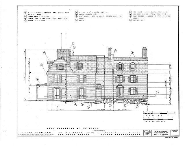 HABS MASS,11-QUI,5- (sheet 10 of 26) - Adams Mansion, 135 Adams Street, Quincy, Norfolk County, MA