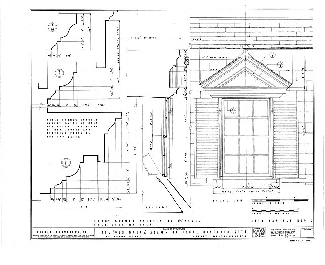 HABS MASS,11-QUI,5- (sheet 13 of 26) - Adams Mansion, 135 Adams Street, Quincy, Norfolk County, MA