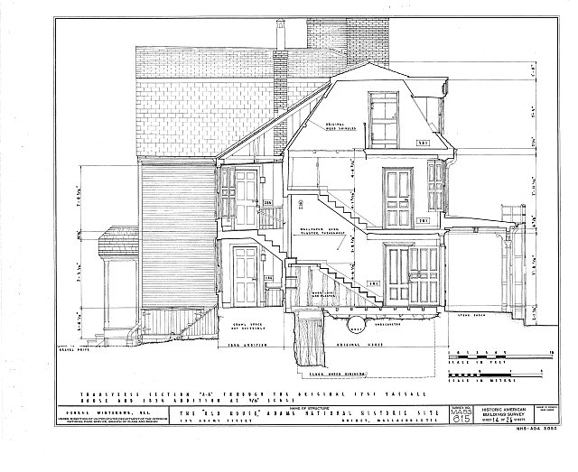 HABS MASS,11-QUI,5- (sheet 14 of 26) - Adams Mansion, 135 Adams Street, Quincy, Norfolk County, MA