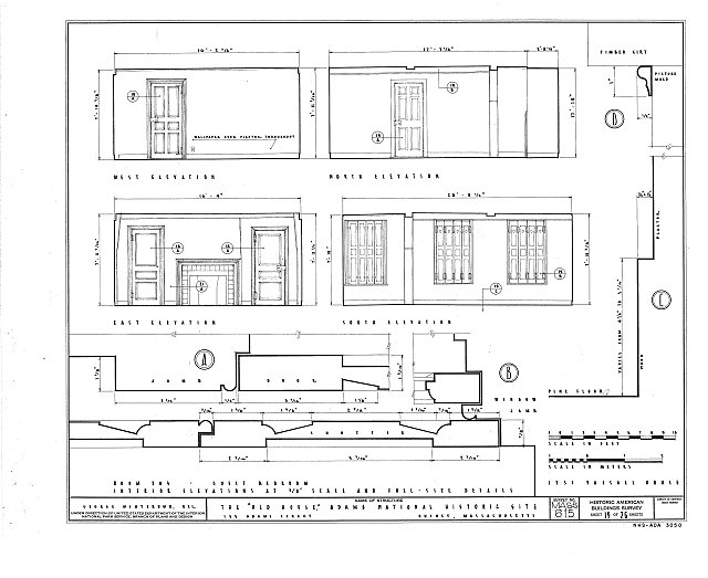 HABS MASS,11-QUI,5- (sheet 19 of 26) - Adams Mansion, 135 Adams Street, Quincy, Norfolk County, MA