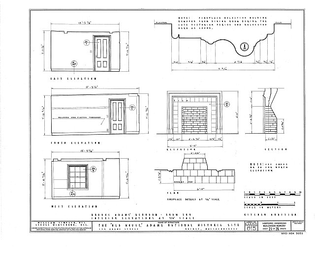 HABS MASS,11-QUI,5- (sheet 21 of 26) - Adams Mansion, 135 Adams Street, Quincy, Norfolk County, MA