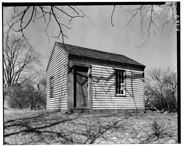 1.  Historic American Buildings Survey Arthur C. Haskell, Photographer April, 1934 (a) Ext- general view from southwest - Shoemaker's Shop, Georgetown Road, Boxford, Essex County, MA