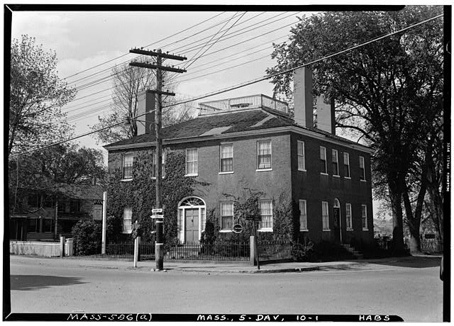 1.  Historic American Buildings Survey Frank O. Branzetti, Photographer May 12, 1940 (a) EXT.-FRONT & SIDE, LOOKING NORTH - Samuel Fowler House, 166 High Street, Danvers, Essex County, MA