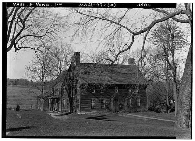 4.  Historic American Buildings Survey Frank O. Branzetti, Photographer Nov. 19, 1940 (a) EXT.-GENERAL VIEW OF FRONT, LOOKING NORTHWEST - Tristram Coffin House, 14 High Road, Newbury Old Town, Essex County, MA