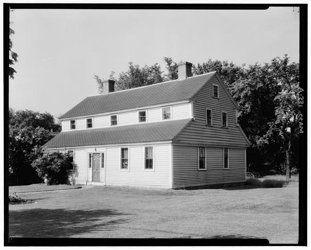1.  Historic American Buildings Survey, Arthur C. Haskell, Photographer. 1935. (a) Ext-General View from Northeast. - Benjamin Slack House, South Street, Plainville, Norfolk County, MA