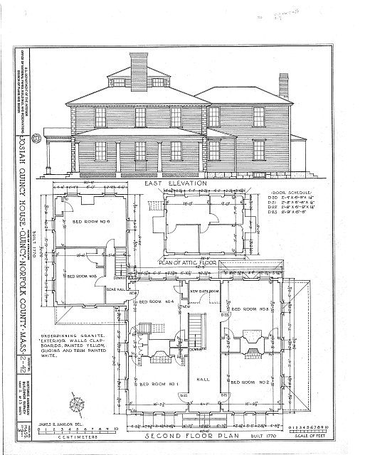 HABS MASS,11-QUI,3- (sheet 2 of 13) - Colonel Josiah Quincy House, 20 Muirhead Street, Quincy, Norfolk County, MA
