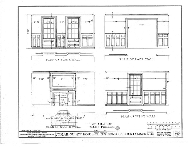 HABS MASS,11-QUI,3- (sheet 9 of 13) - Colonel Josiah Quincy House, 20 Muirhead Street, Quincy, Norfolk County, MA