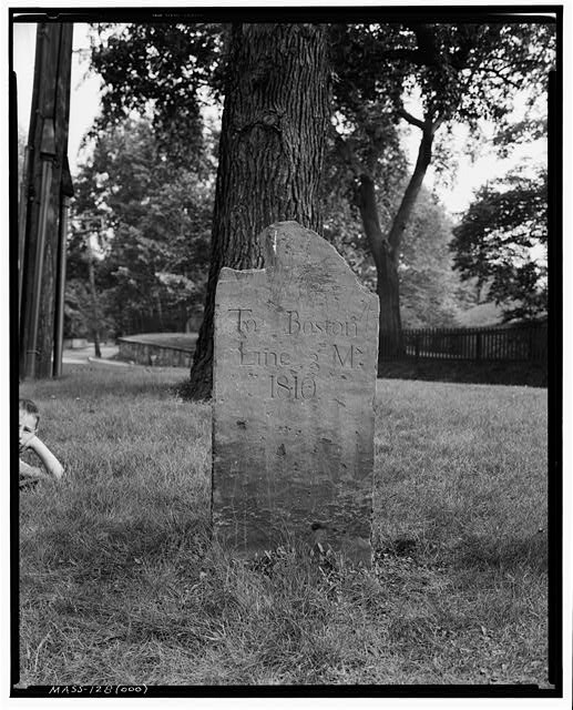1.  Historic American Buildings Survey Frank O. Branzetti, Photographer July 17, 1940 (ooo) 3- MILE STONE, BOYLSTON ST., BROOKLINE - Milestones GG & OOO, Various Brookline locations, Brookline, Norfolk County, MA
