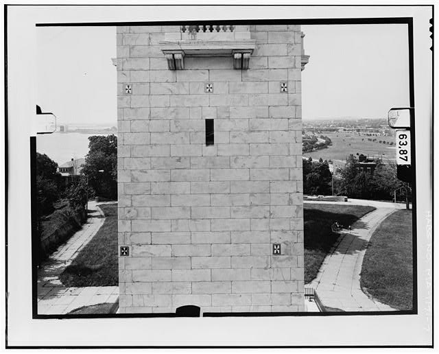7.  NORTH ELEVATION, LEVEL 2 Copy photograph of photogrammetric plate LC-HABS-GS11-D-1981-N2R. - Dorchester Heights Monument, Thomas Park, Boston, Suffolk County, MA