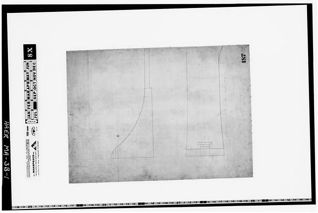 1.  Photocopy of a drawing (original in the Collection of the PL&C, Shelf 118, Drawing 187)--ca. 1836--DAM IN THE RACE FROM MERRIMACK CANAL, BUILT IN 1835 - Merrimack Canal, Rolling Dam, Lowell, Middlesex County, MA