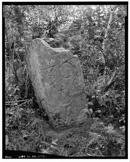 1.  GENERAL VIEW - Milestone, Boston Road vicinity, Newbury Old Town, Essex County, MA