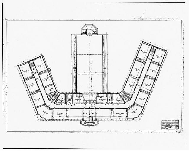 3.  Drawing No. 4, SECOND FLOOR PLAN - John Wingate Weeks Junior High School, Hereward & Rowena Streets, Newton Center, Middlesex County, MA