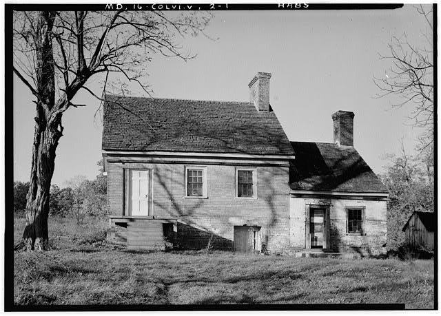 1.  Historic American Buildings Survey John O. Brostrup, Photographer October 20, 1936 3:20 P. M. VIEW OF MILLER'S HOUSE FROM SOUTH (front) - Miller's House, East Randolph Road, Colesville, Montgomery County, MD