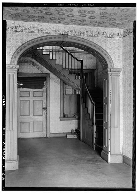 3.  Historic American Buildings Survey John O. Brostrup, Photographer April 13, 1936 9:20 A.M. ENTRANCE HALL (general view) - Partnership, Central Avenue (State Route 214), Largo, Prince George's County, MD