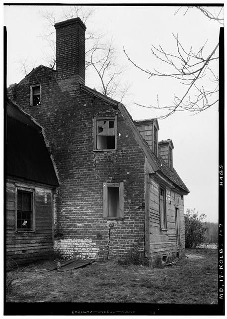 7.  Historic American Buildings Survey John O. Brostrup, Photographer April 20, 1936 9:30 A.M. BRICK (east) GABLE VIEW - Friendship, Kolbies Corner, State Routes 214 & 556, Largo, Prince George's County, MD