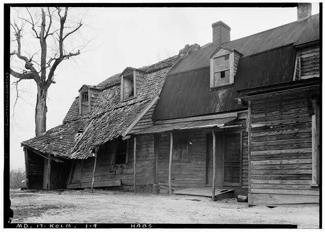 9.  Historic American Buildings Survey John O. Brostrup, Photographer April 20, 1936 10:00 A.M. VIEW FROM SOUTHEAST - Friendship, Kolbies Corner, State Routes 214 & 556, Largo, Prince George's County, MD