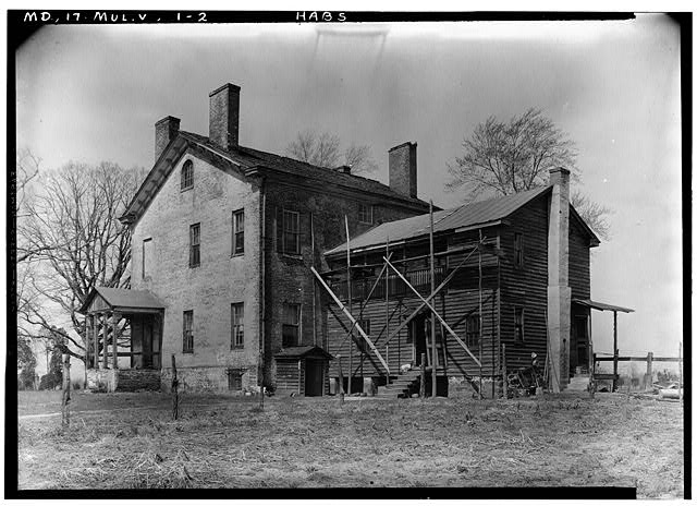 2.  Historic American Buildings Survey John O. Brostrup, Photographer April 15, 1936 10:40 A.M. VIEW FROM SOUTHEAST - Elverton Hall, Collington, Prince George's County, MD