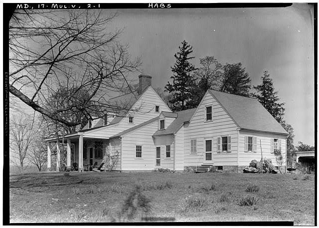 1.  Historic American Buildings Survey John O. Brostrup, Photographer April 15, 1936 9:35 A.M. VIEW FROM SOUTHEAST (front) - Mullikin's Delight, 2307 Church Road, Woodmore, Prince George's County, MD