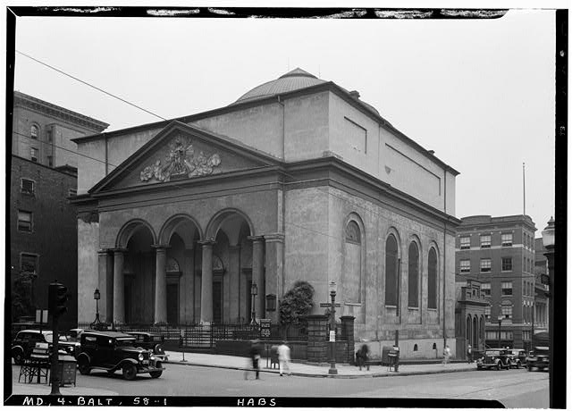 1.  Historic American Buildings Survey E. H. Pickering, Photographer September 1936 NORTHWEST VIEW - First Unitarian Church, Franklin & Charles Streets, Baltimore, Independent City, MD