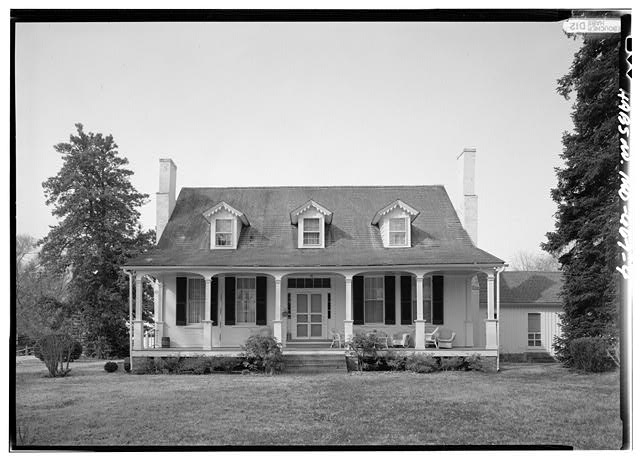 4.  EAST NORTHEAST (FRONT) ELEVATION, WITH SCALE - Sasscer&#39;s House, 5415 Old Crain Highway (U.S. Route 301), Upper Marlboro, Prince George&#39;s County, MD