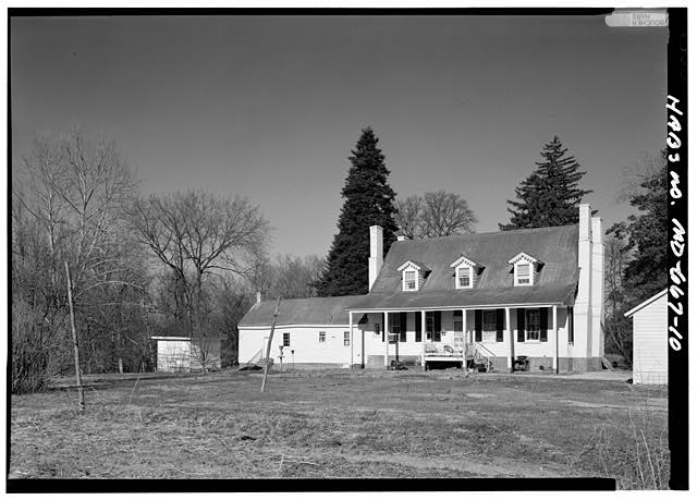 10.  PERSPECTIVE VIEW OF SOUTHWEST (REAR) - Sasscer's House, 5415 Old Crain Highway (U.S. Route 301), Upper Marlboro, Prince George's County, MD
