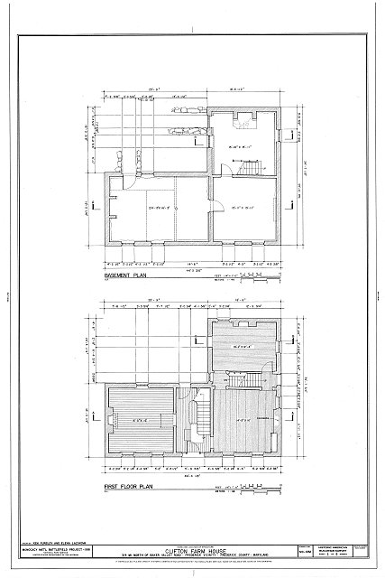 HABS MD,11-FRED.V,17- (sheet 2 of 6) - Clifton Farm, Off Baker Road, Frederick, Frederick County, MD