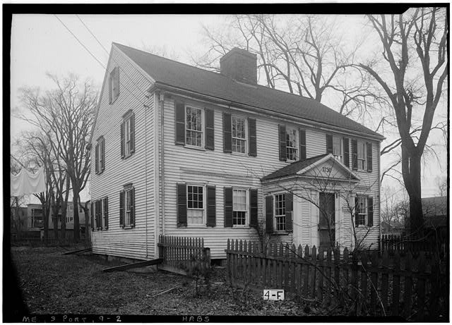 2.  Historic American Buildings Survey Allen L. Hubbard, Photographer April 6, 1936 FRONT ELEVATION - Deacon John Bailey House, 1235 Congress Street, Portland, Cumberland County, ME