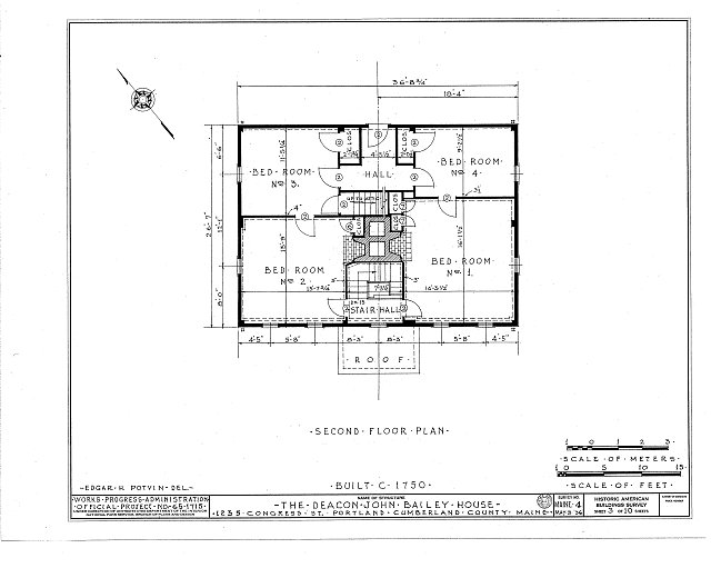 HABS ME,3-PORT,9- (sheet 3 of 10) - Deacon John Bailey House, 1235 Congress Street, Portland, Cumberland County, ME