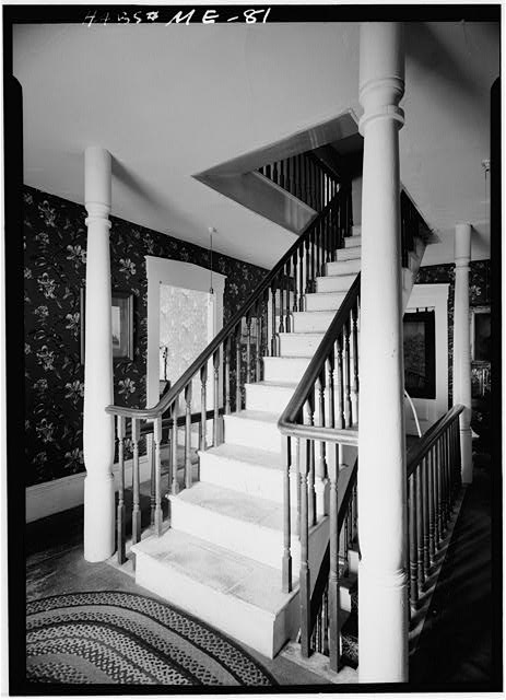 2.  Historic American Buildings Survey Cervin Robinson, Photographer August 1960 MAIN STAIRWAY AT THE SECOND FLOOR - William T. Glidden-Austin Block, Intersection of U.S. Route 1 (Main Street) & State Route 215 (River Street), Newcastle, Lincoln County, ME