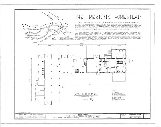 HABS ME,8-NEWC,2- (sheet 1 of 2) - Perkins Homestead, East side of River Road, South of U.S. Route 1, Newcastle, Lincoln County, ME