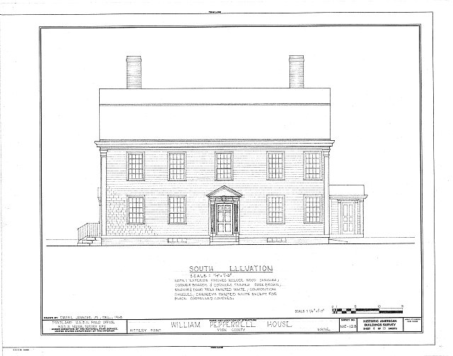 HABS ME,16-KITPO,4- (sheet 4 of 10) - William Pepperrell House, State Route 103, Kittery Point, York County, ME
