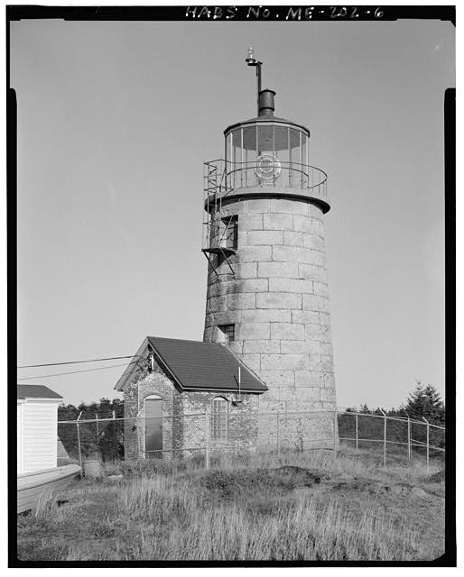 6.  Light tower, view northeast, northwest and southwest sides - Monhegan Island Light Station, Monhegan Island, ten miles south by ferry from Port Clyde, Monhegan, Lincoln County, ME