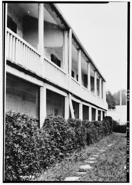 3.  Historic American Buildings Survey, Charles Norton, Jr., Photographer. June 8 to July 4, 1936. VIEW FROM SOUTH WEST. - Fort Mackinac, Officers Stone Quarters, Mackinac Island, Mackinac County, MI