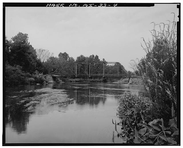 4.  VIEW OF SOUTH ELEVATION OF BRIDGE (IN RIVER) - F Drive North Bridge, Spanning Kalamazoo River at F Drive North, Marshall, Calhoun County, MI
