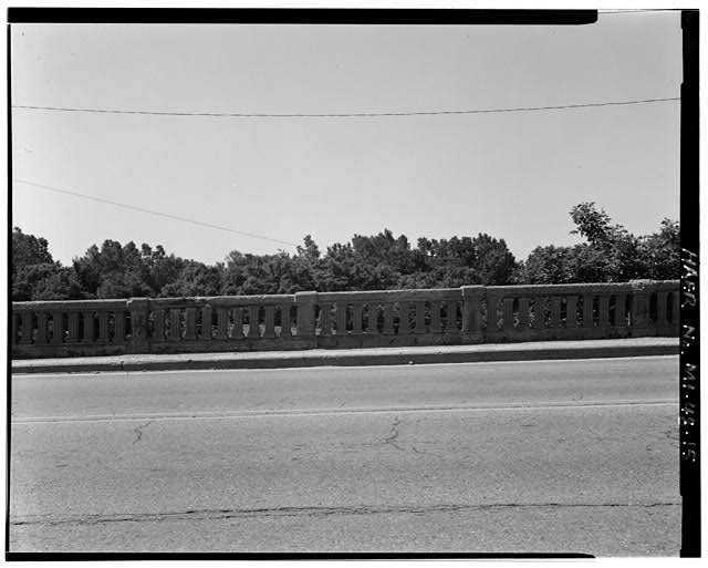 15.  TYPICAL RAILING SEGMENT, SOUTHEAST ABUTMENT, LOOKING SOUTH - Grand River Avenue Bridge, Spanning Chesapeake & Ohio Railroad at Grand River Avenue, Novi, Oakland County, MI