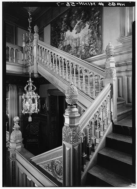 7.  STAIRHALL, STAIR, DETAILS OF BALUSTERS - James C. Burbank House, 432 Summit Avenue, Saint Paul, Ramsey County, MN